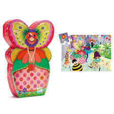 Puzzle Butterfly Lady
