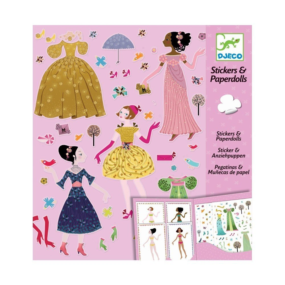 Stickers And Paper dolls Pink
