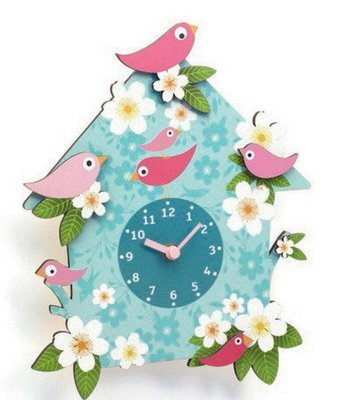 Wall Clock Birds