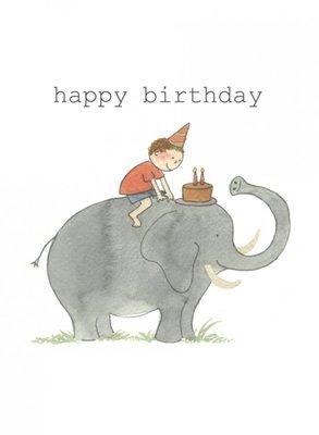 happy birthday boy elephant