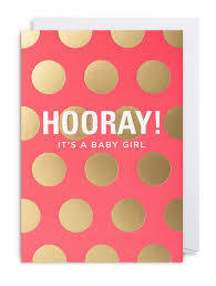its baby girl card