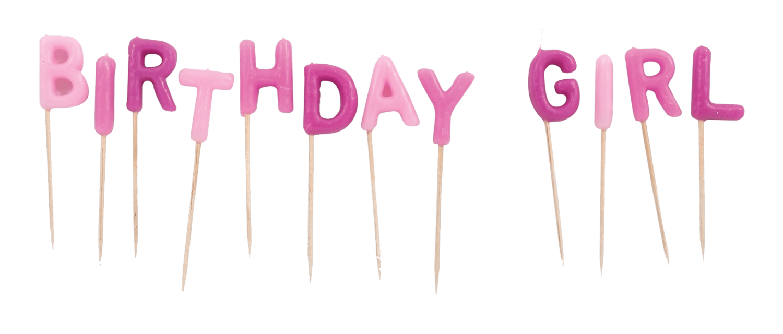 birthday girl candles