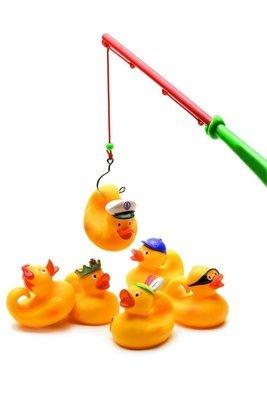 Fishing Ducks Yellow