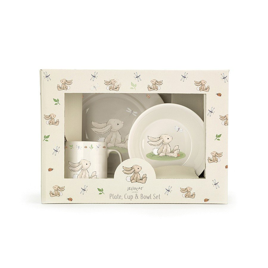 Bunny Plate, Cup & Bowl Set