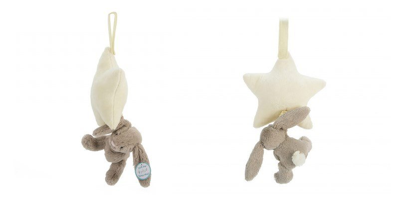 Bashful Beige Bunny Star Musical Pull