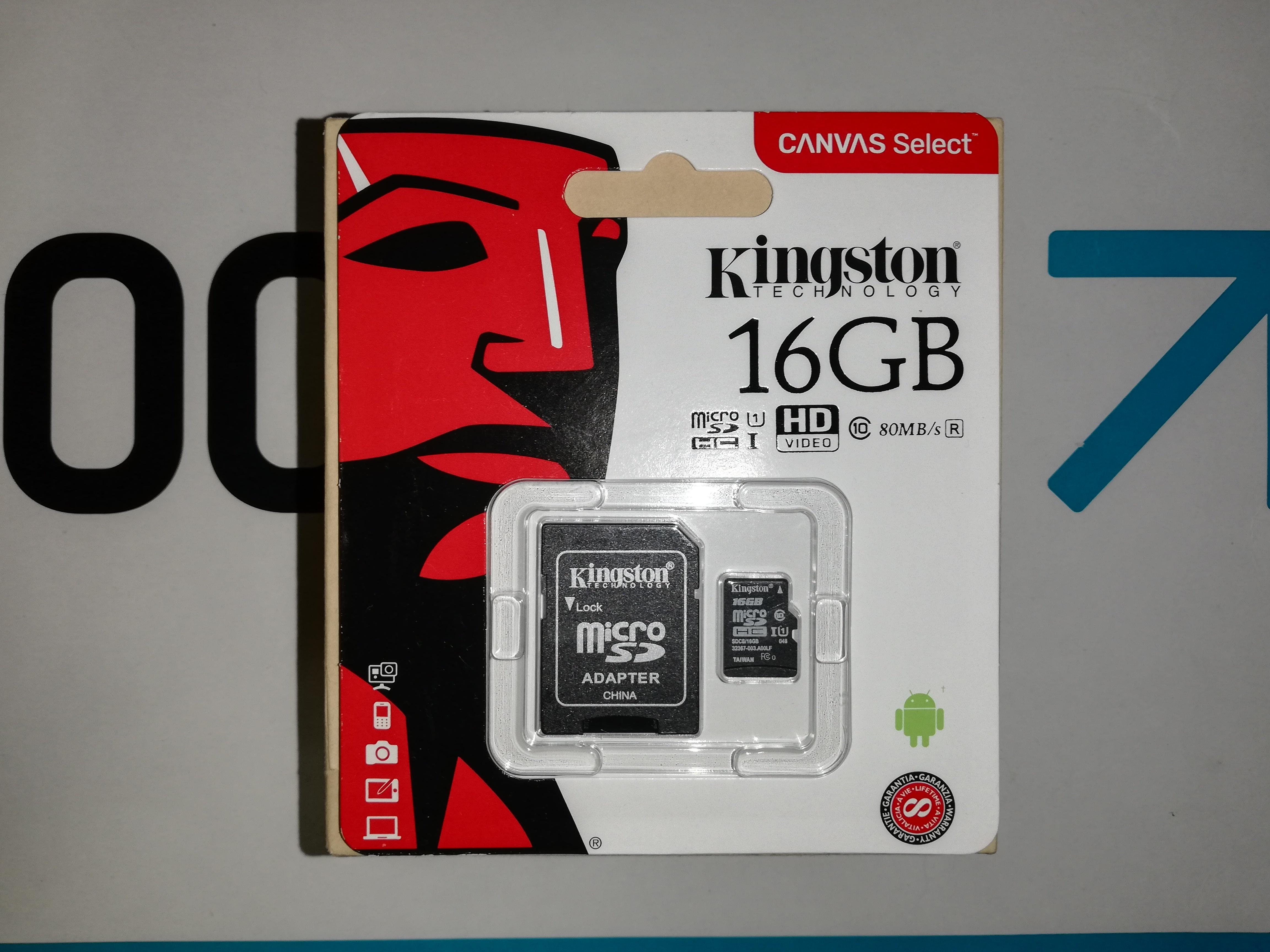 Memoria KingSton 16GB - Disponible 17