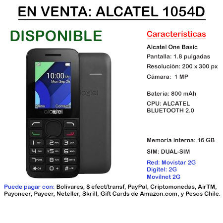 Alcatel 1054D - Teléfono ALCALTEL1054D