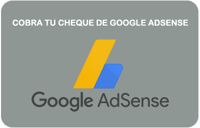 Cobrar Cheque Google Adsense GOOGLEAD