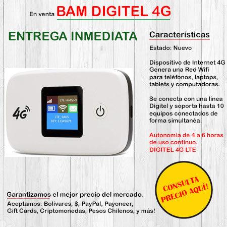 Bam Digitel 4G - Wifi Portatil HUAWEIBAM