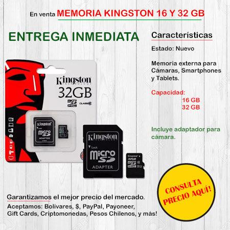 Memoria SD KingSton - Memoria Externa MEMORIASD