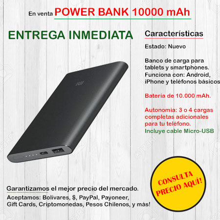 Power Bank 10.000 mAh - Cargador portatil POWERBANK