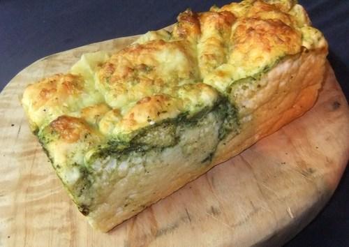 Pesto parmasan gluten free loaf