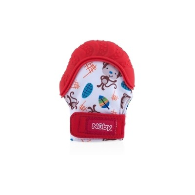 Nuby Teething Mitt  3m+ - Red