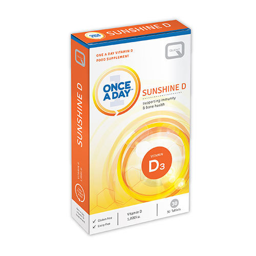 Quest Once a Day - Sunshine D - Vitamin D3 - 30 Tablets