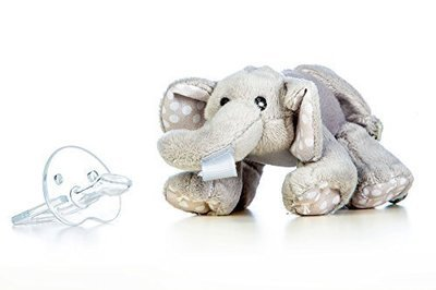 Grey Elephant Snuggle Soother, Babies Best Friend - Universal Attachement for All Soother - 0+ Months