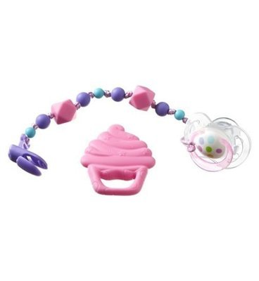 Nuby Soother with Holder  0m+ BPA Free