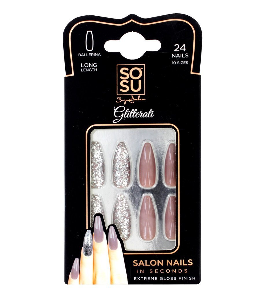 Sosu Ballerina Long Length False Nails In Glitterati