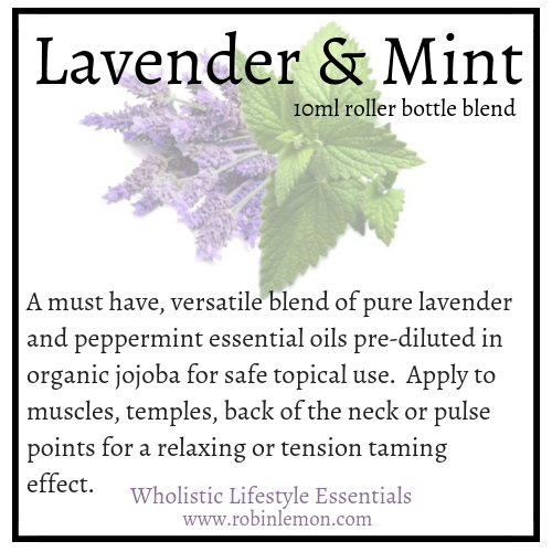 Lavender and Mint Essential Oil Roller Bottle Blend