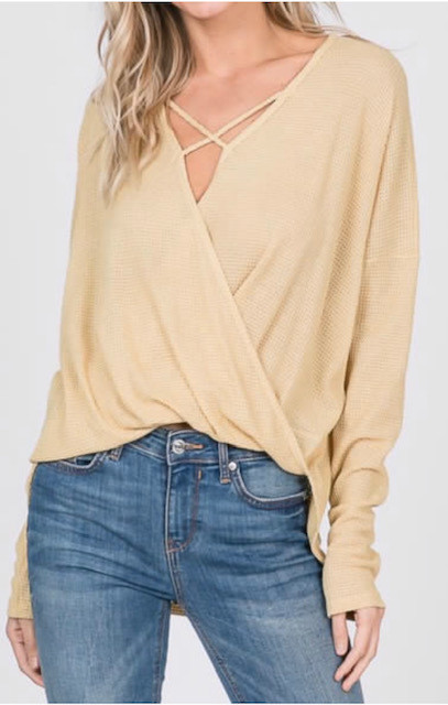 CRISS-CROSS WAFFLE TOP BANANA (ONE SIZE)