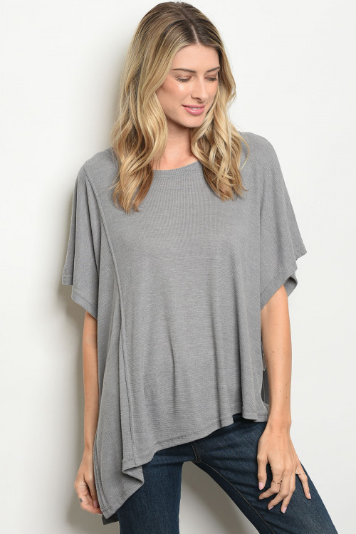JOAN GREY TOP (ONE SIZE)