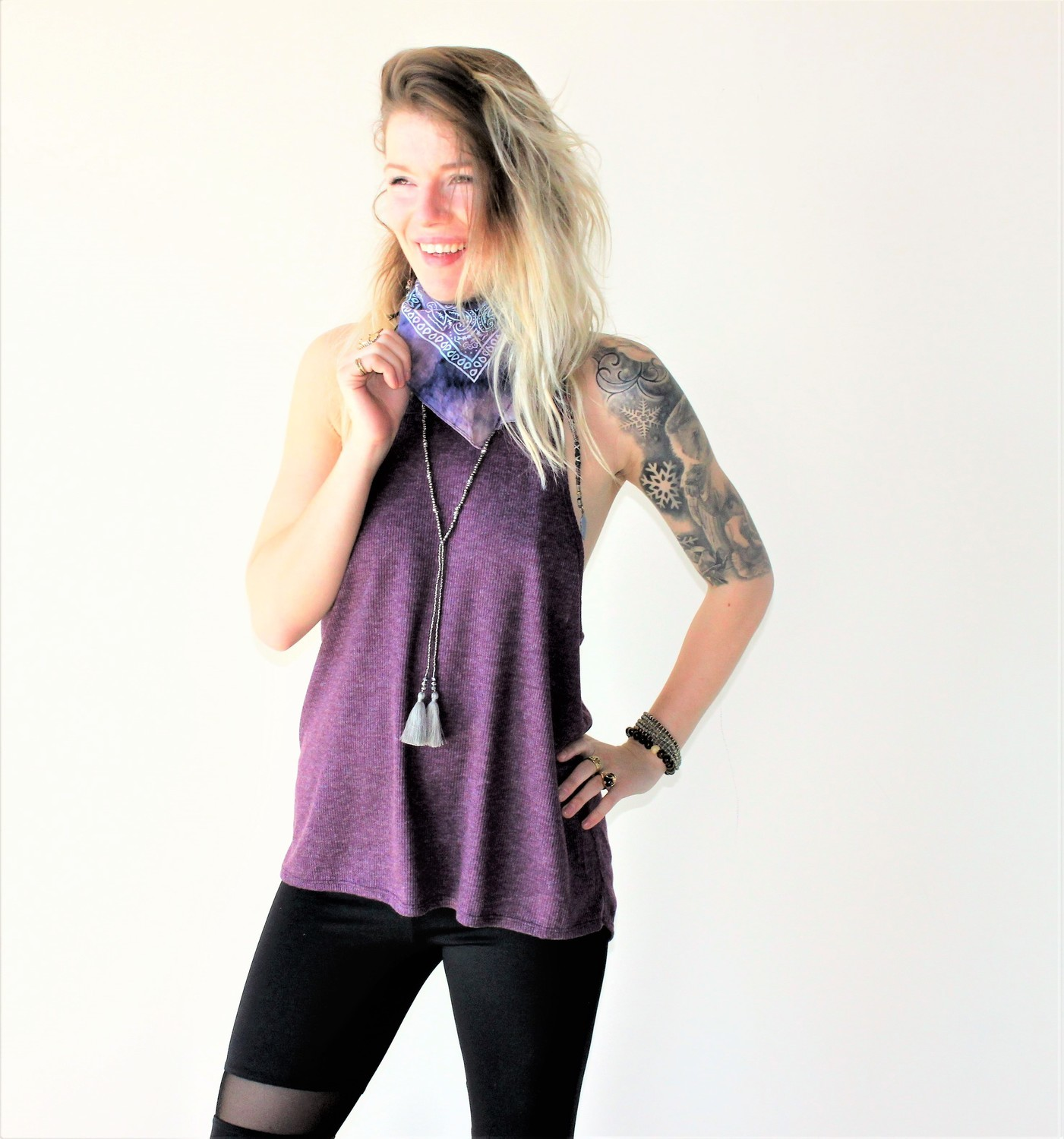 CAMI TWIST PLUM (ONE SIZE)
