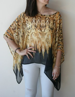 SQUARE AFRICA PONCHO TOP