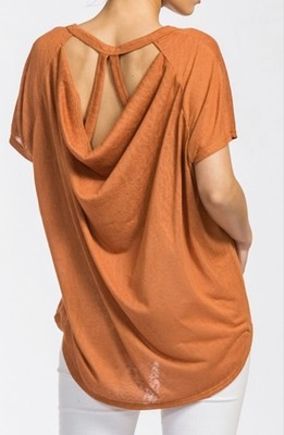 DRAPED TOP SAFRAN