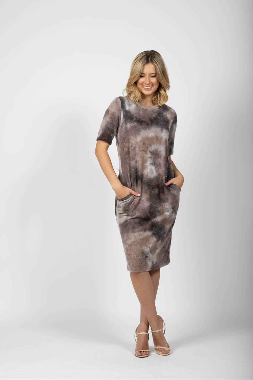 SARA FRENCH FLEECE DRESS