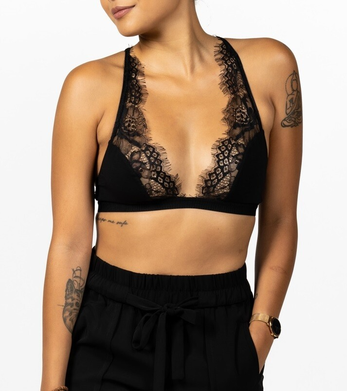 PLUNGE LOVELY LACE BRALETTE