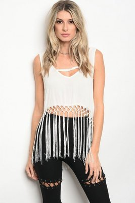 BOHO TOP WHITE (ONE SIZE)