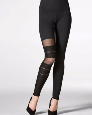 LEGGING ONE LEG STRIPE BLACK  5667