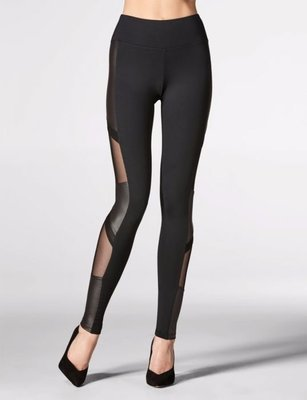 LEGGING SIDE DESIGN BLACK  5668