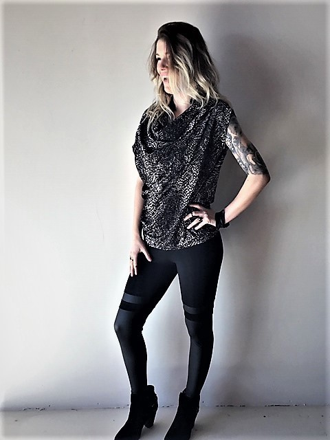 A VOLCANO FAUVE TOP (ONE SIZE)