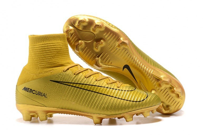 super cheap 28879 7aa06 Nike Mercurial Superfly V FG CR7 ( Gold)