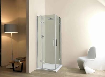 Box doccia Free angolo 2 ante 90x90 estensibilita' 86-88 H 195 cristallo trasparente 6 mm con trattamento anticalcare