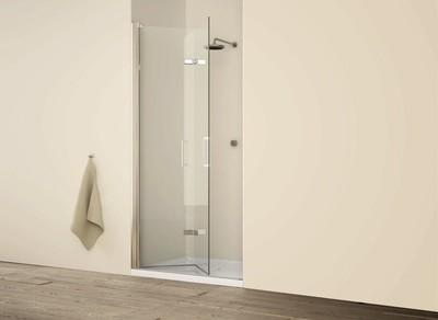 Porta doccia Free cm 90 estensibilita' 86-88 H 195 cristallo trasparente 6 mm con trattamento anticalcare