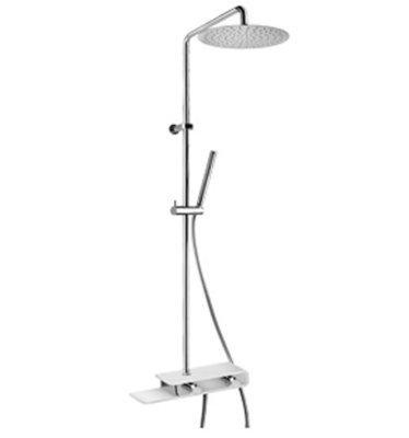PAINI PAD Miscelatore termostatico doccia esterno con pulsante di sicurezza 38°, con doccia e soffione