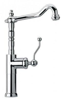 """PAINI DUOMO Miscelatore monoforo lavabo tipo alto con bocca tubo orientabile, scarico 1""""1/4"""
