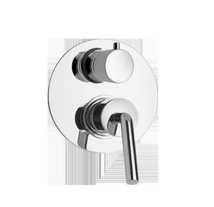 Paini Pixel New Miscelatore Doccia Incasso a Muro con Deviatore Rotativo 2 Uscite Cromato