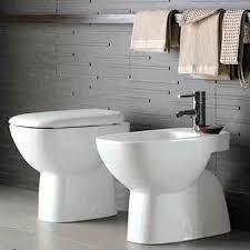 Pozzi Ginori vaso e bidet con sedile temoindurente fantasia 2 scarico pavimento o parete  tradizionale
