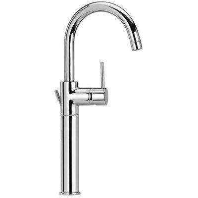 """PAINI COX Miscelatore monoforo lavabo tipo alto con bocca tubo orientabile, scarico 1""""1/4"""