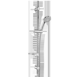 PAINI SHOWER LINE Doccia saliscendi P9 con portasapone e doccia anticalcare 5 getti con fissaggio regolabile art.50CR124/P9