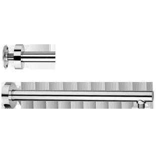 PAINI SHOWER LINE Braccio doccia a parete Ø30  lunghezza 15 o 20cm a scelta con fissaggio rinforzato