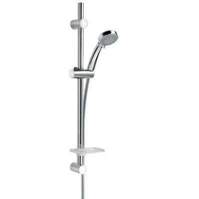 PAINI SHOWER LINE Doccia saliscendi P1 con portasapone e doccia anticalcare 3 getti art. 50CR124/P1
