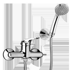 """PAINI MIXO TC Miscelatore doccia esterno 1/2"""" con doccia """"Duplex"""""""