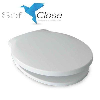 Sedile WC Compatibile DOLOMITE QUARZO Termoindurente Copriwater Plastica Adattabile Bianco Cerniere Cromate Soft Close - Chiusura Rallentata
