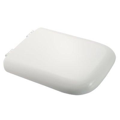 Sedile WC Compatibile EUROPA POINT Termoindurente Copriwater Plastica Adattabile Bianco Cerniere Cromate