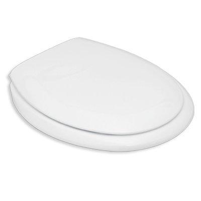 Sedile WC Compatibile DOLOMITE PERLA NUOVO Termoindurente Copriwater Plastica Adattabile Bianco Cerniere Cromate