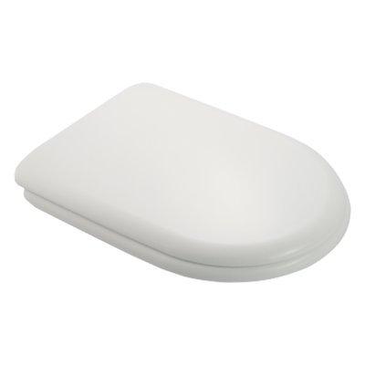 Sedile WC Compatibile DOLOMITE RC80 Termoindurente Copriwater Plastica Adattabile Bianco Cerniere Cromate