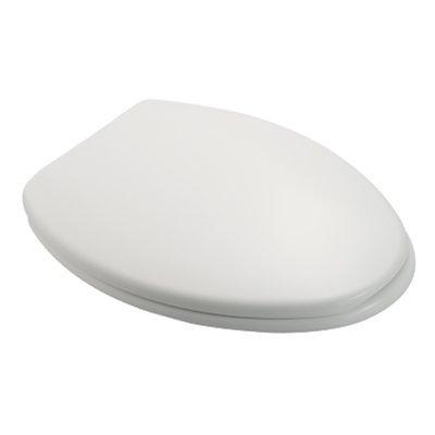 Sedile WC Compatibile CESAME FELICE NUOVO Termoindurente Copriwater Plastica Adattabile Bianco Cerniere Cromate